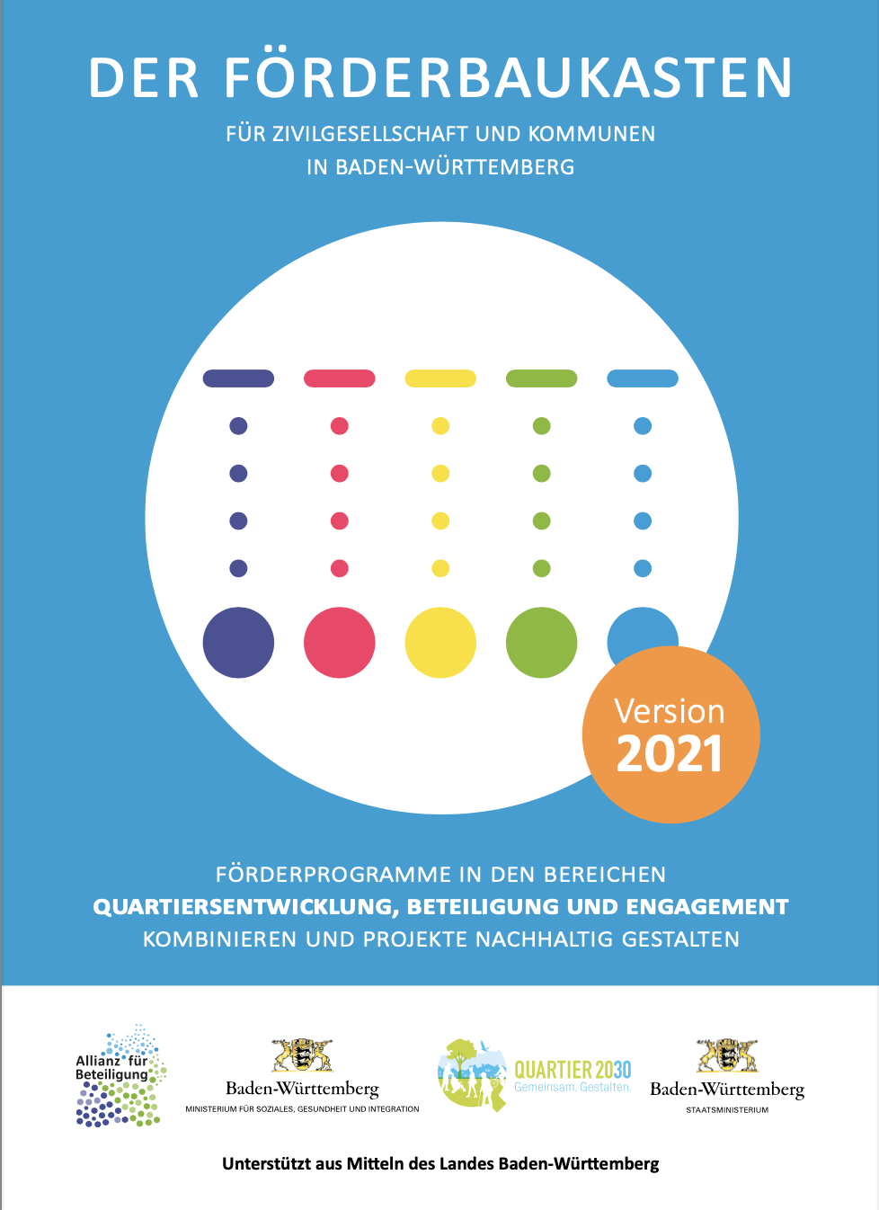Förderbaukasten für Zivilgesellschaft und Kommunen in Baden-Württemberg.